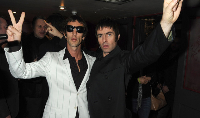 LONDON - NOVEMBER 07: (EMBARGOED FOR PUBLICATION IN UK TABLOID NEWSPAPERS UNTIL 48 HOURS AFTER CREATE DATE AND TIME. MANDATORY CREDIT PHOTO BY DAVE M. BENETT/GETTY IMAGES REQUIRED) Richard Ashcroft (L) and Liam Gallagher attend the launch of Liam Gallaghers clothing line, Pretty Green, at the Gore Hotel on November 7, 2009 in London, England. (Photo by Dave M. Benett/Getty Images)