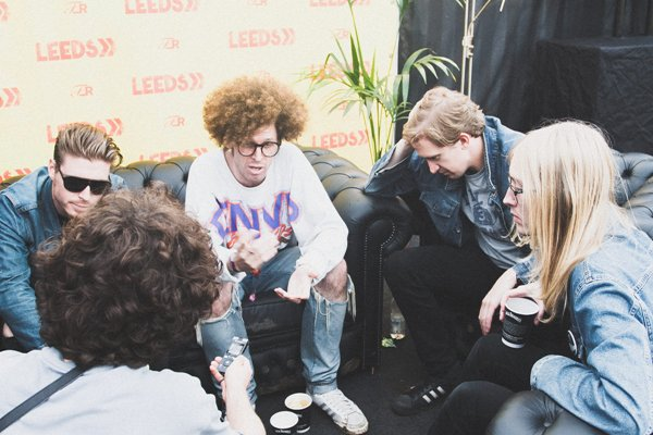 29. Interviews on site at Leeds Festival, with a hangover.