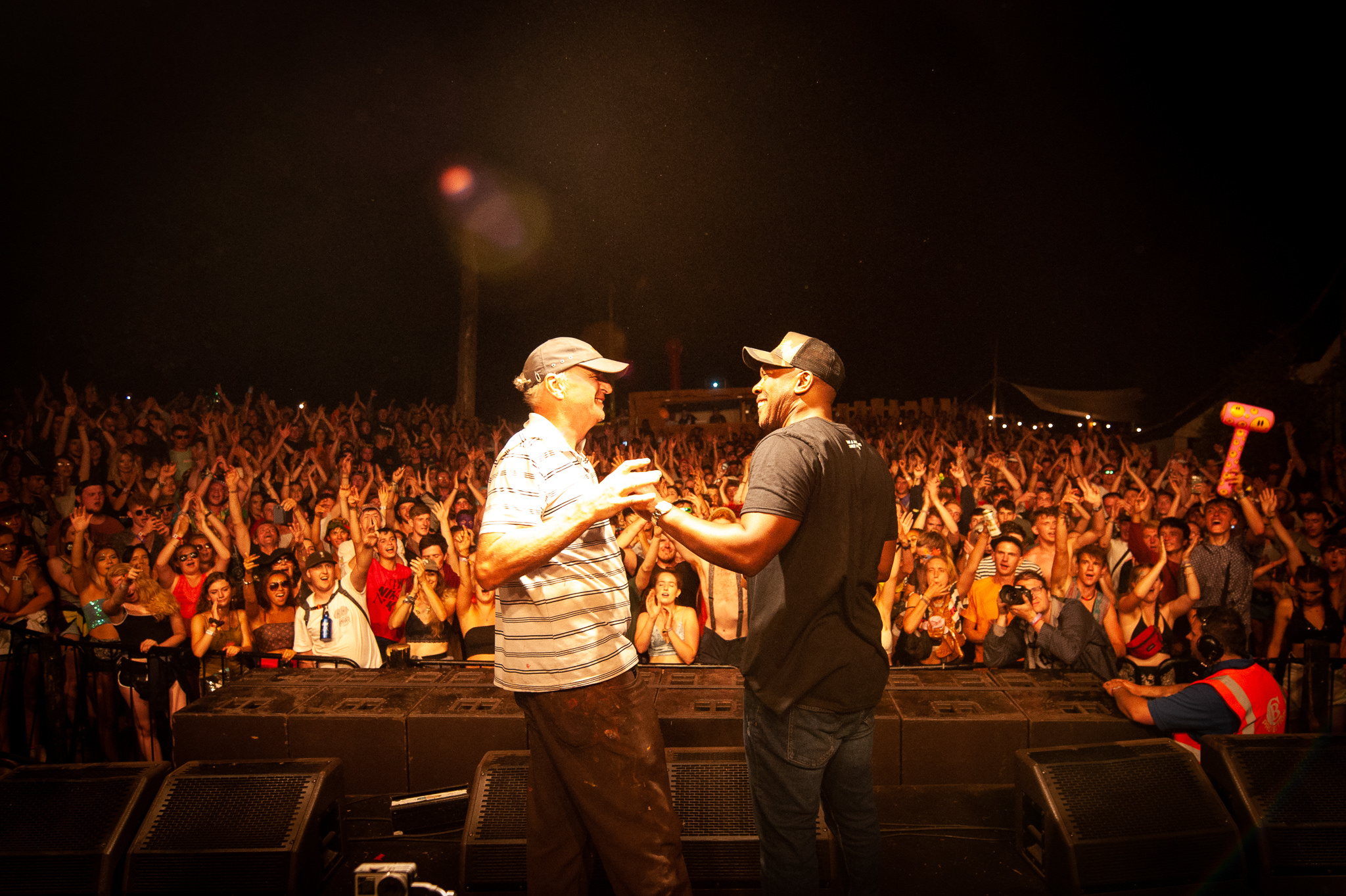 DJ Marky and Noz (Pete) at Nozstock 2018 - credit Dan Barker