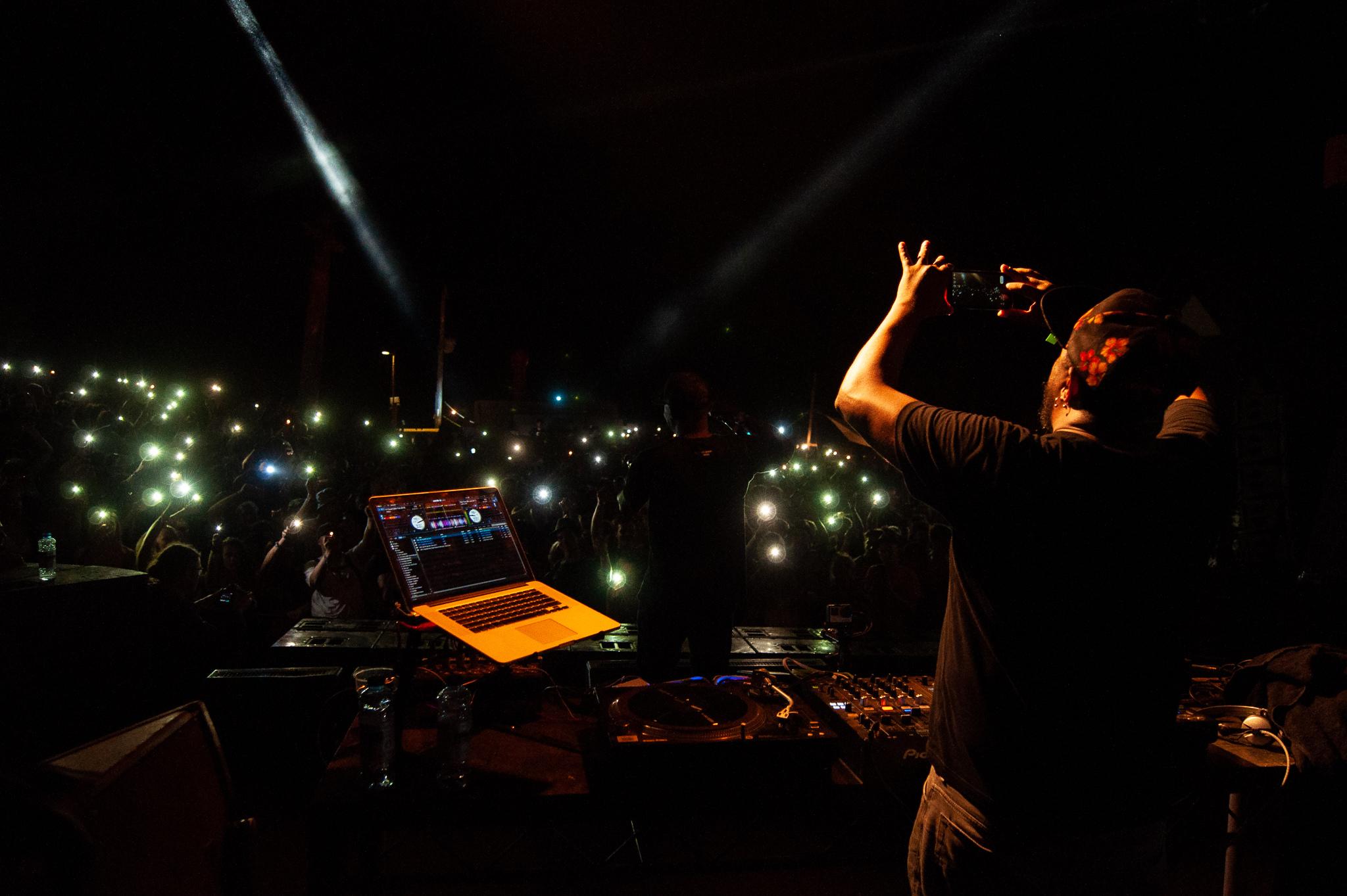 DJ Marky at Nozstock 2018 - credit Dan Barker